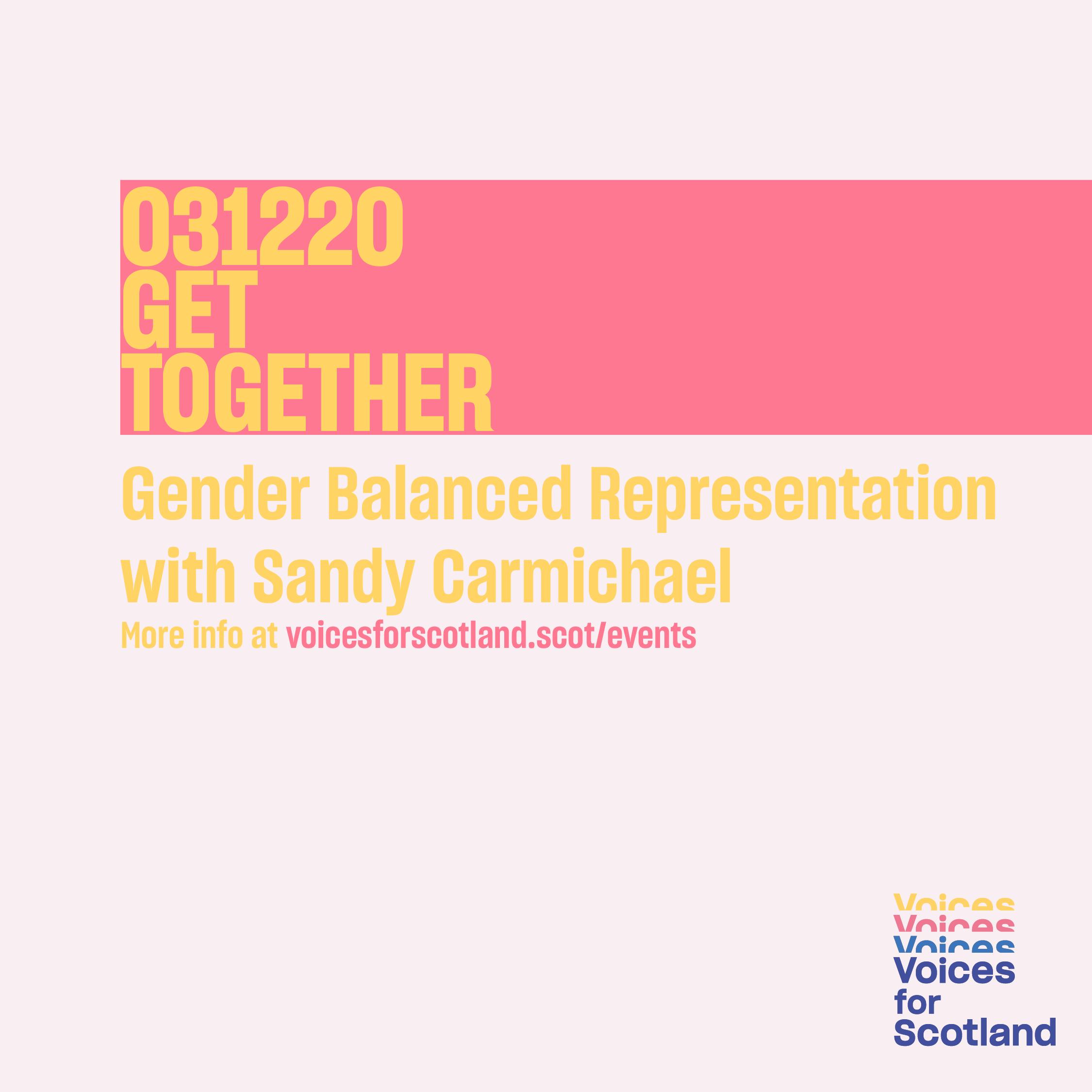 Poster for Get Together Event on 3 December