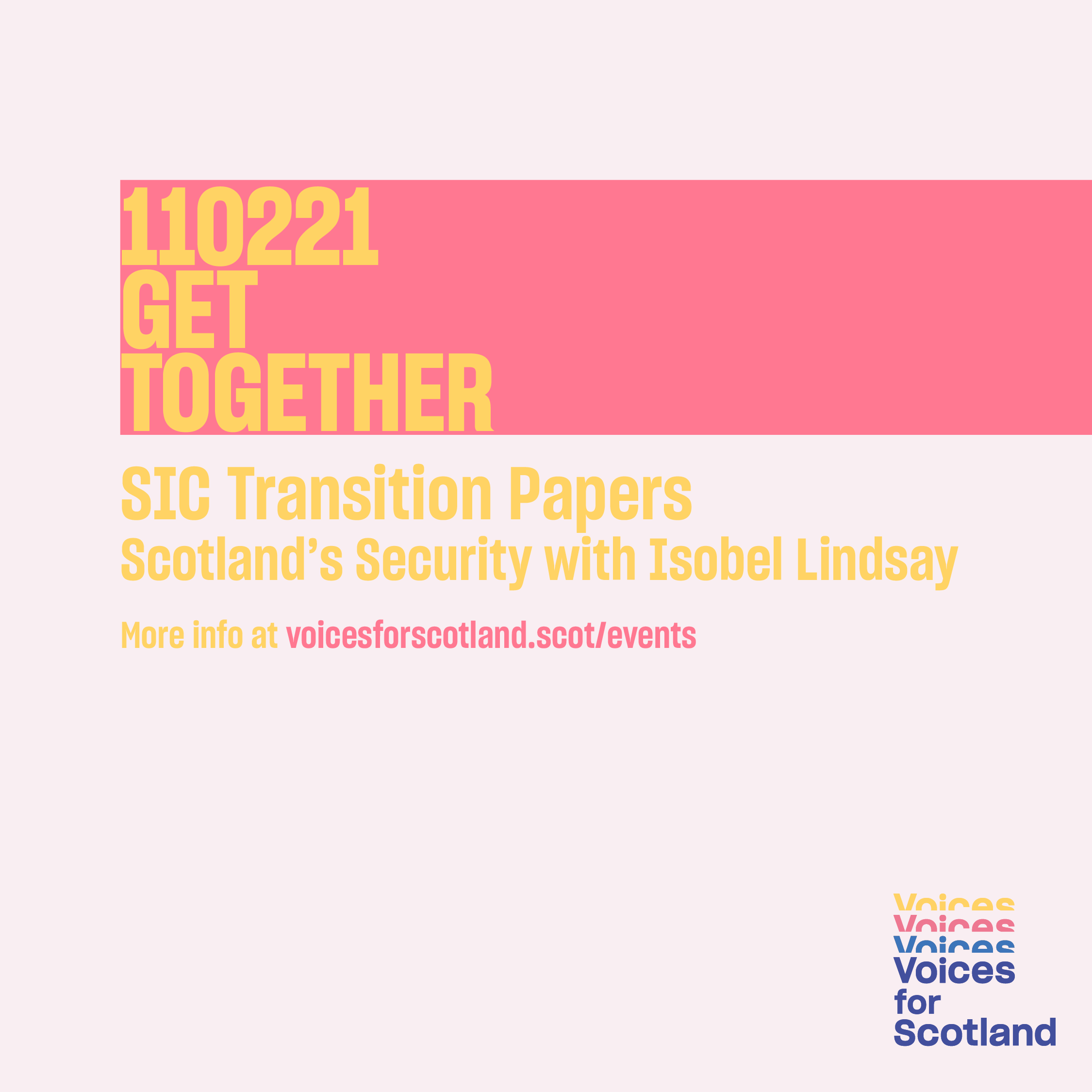 Image promoting Voices for Scotland's event on 11 February