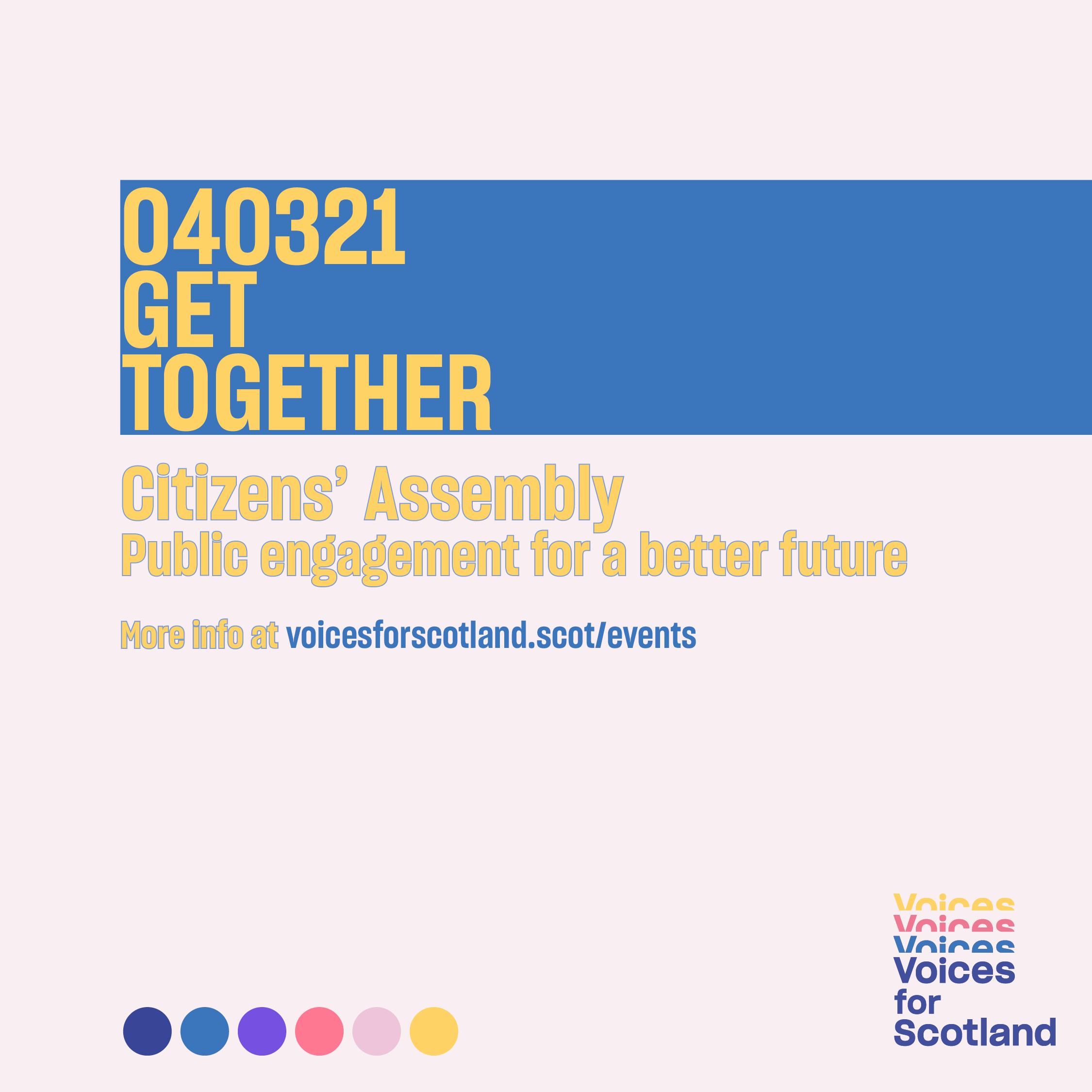 Poster for Get Together event on 4 March