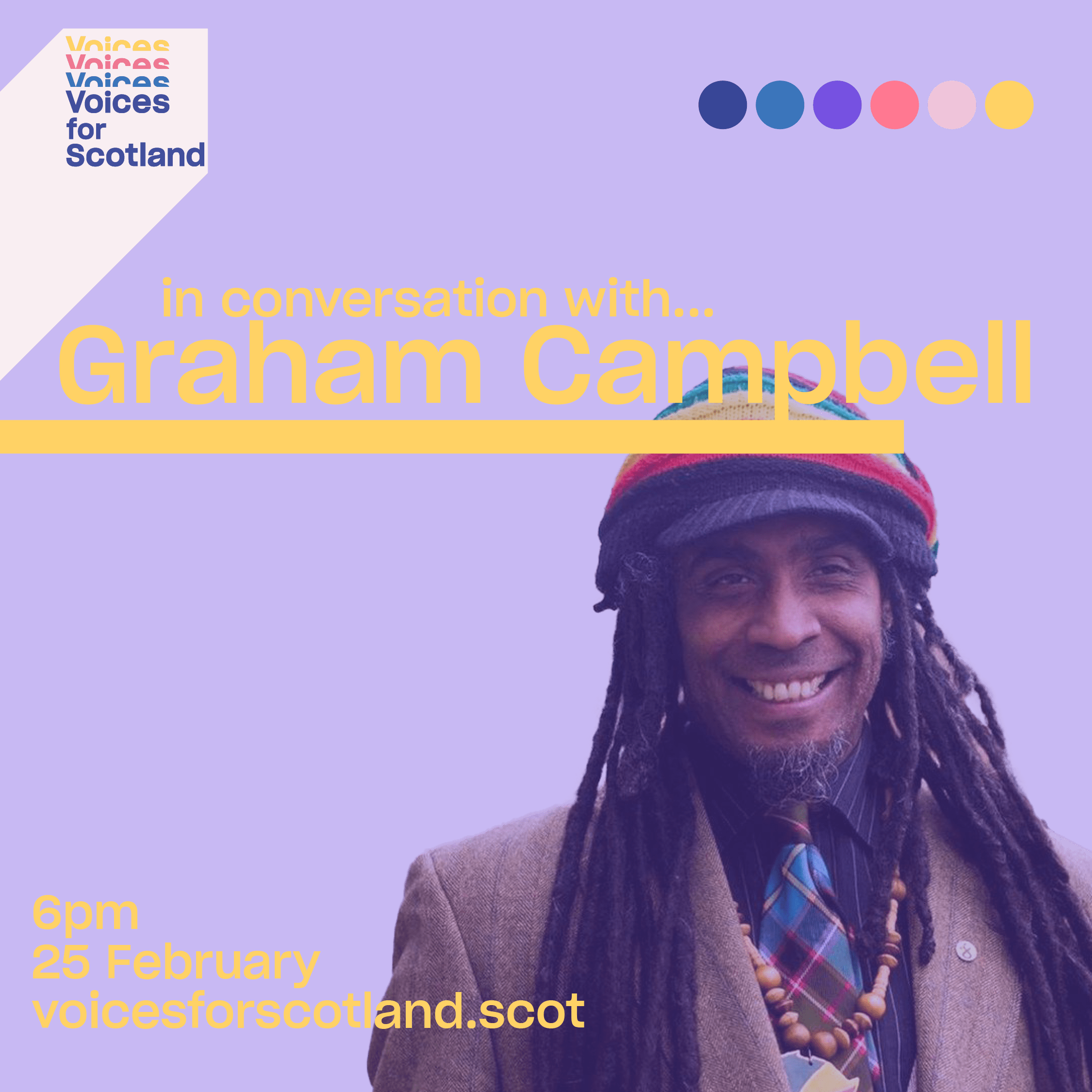 Poster for event with Graham Campbell on 25 February